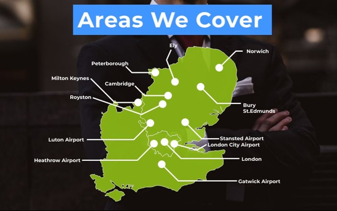 Areas we cover for airport transfers